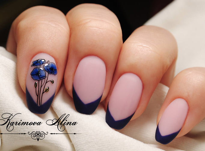Цветной френч на ногтях: модные варианты (ФОТО)