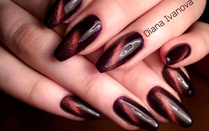 На длинные ногти балерина