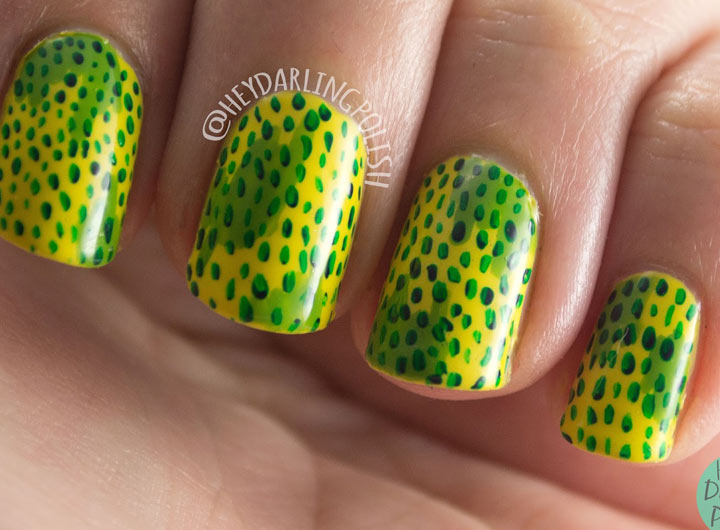 Жёлто-зелёный маникюр: модные идеи (ФОТО)