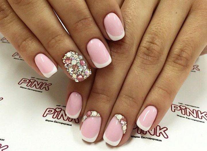 Маникюр розовый с серебром: 30 вариантов дизайна
