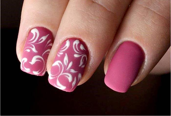 Матовый Вензеля на ногтях: красивые узоры пошагово