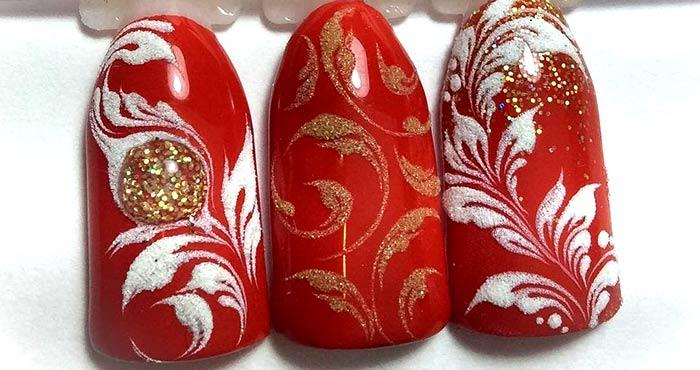 Рисуем вензеля на ногтях