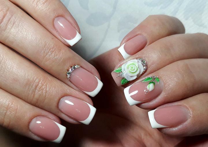 Лепка розы на безымянном ногте