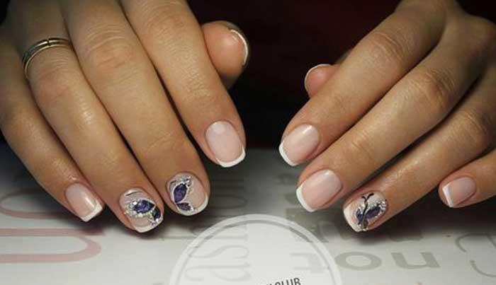 Френч на короткие ногти: красивые новинки (ФОТО + видео)