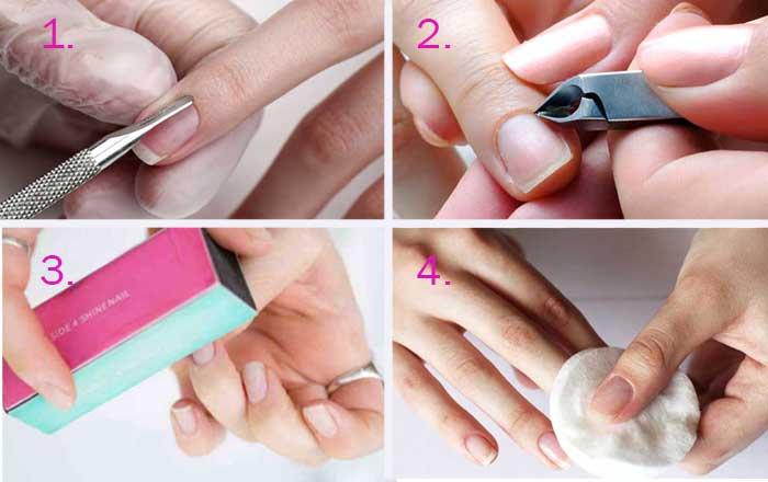 Подготовка ногтей к нанесению гель-лака