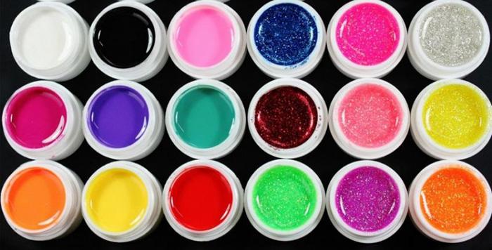 Набор гелей разных цветов