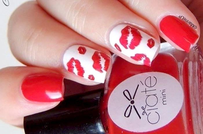 Губки, поцелуйчики маникюр Маникюр на 14 февраля: красивые, романтичные идеи