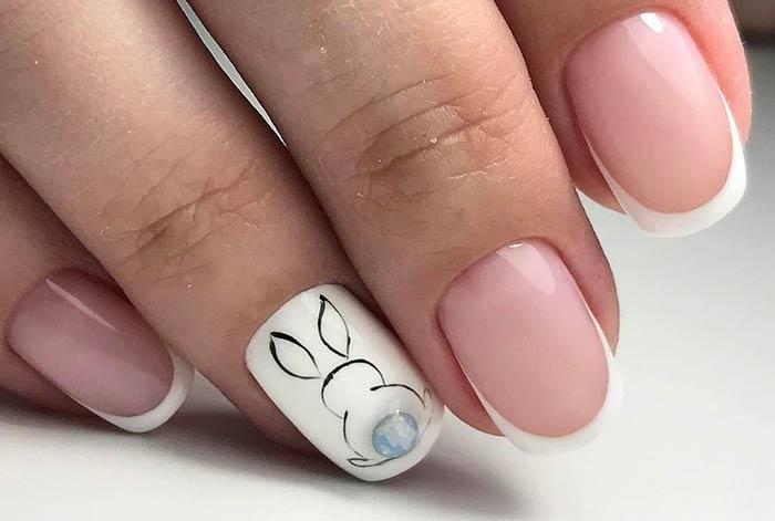 Кролик на ногтях идеи весеннего дизайна ногтей