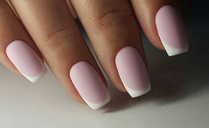 Матовый френч идеи весеннего дизайна ногтей