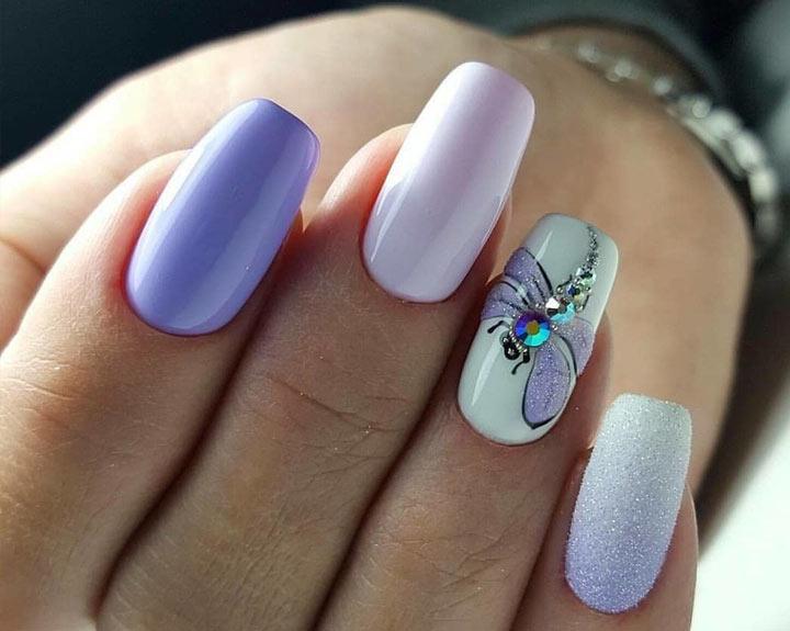 Стрекоза на ногтях Нежный маникюр: модные идеи дизайна (фото)