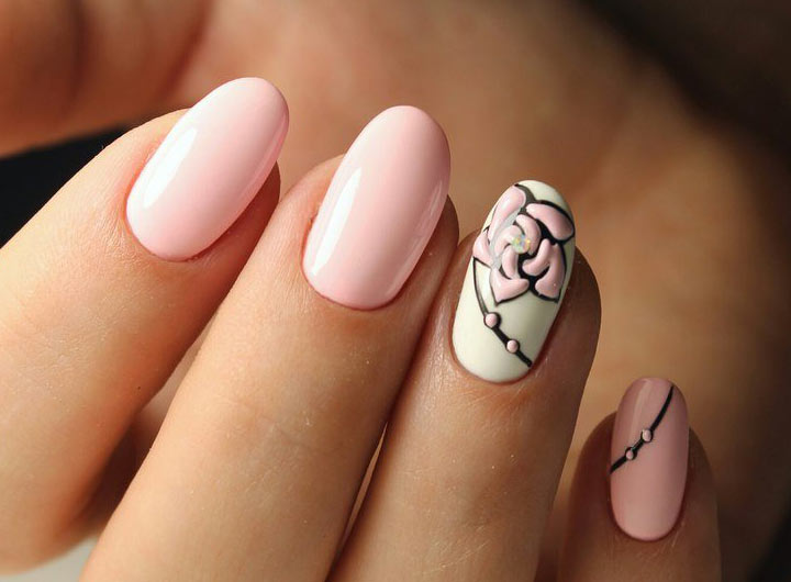 Нежно-розовый Нежный маникюр: модные идеи дизайна (фото)
