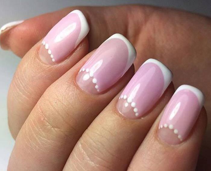 Лунный френч розовым пастельным тоном