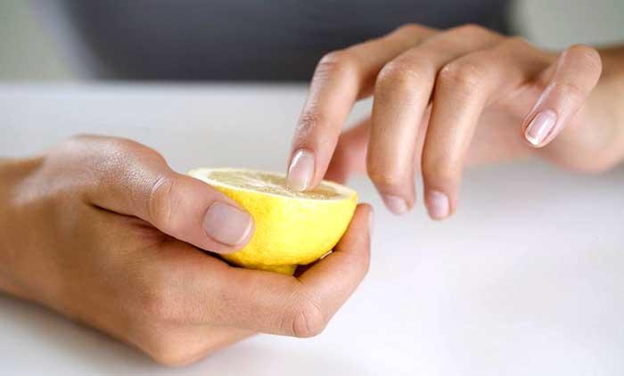 Лимонный сок для укрепления ногтей