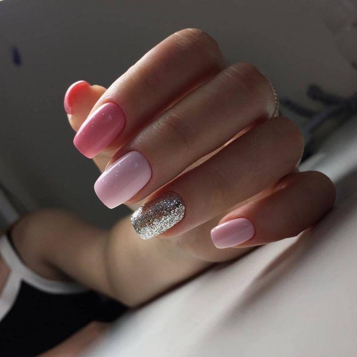 маникюр на выпускной розовый