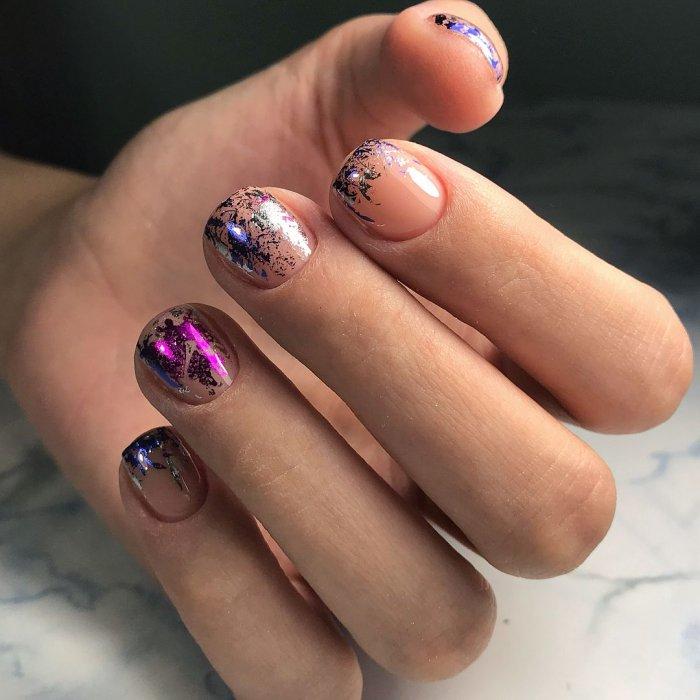 камифубуки на широкие ногти